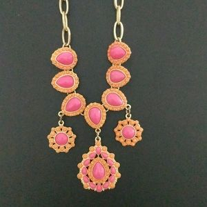 Charming Charlie Pink and Coral Necklace